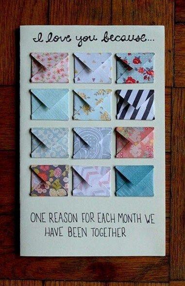 36 Ideas Para Regalos Para Novios Hechos A Mano Navidad Diy Birthday Card For Boyfriend Diy Anniversary Gift Birthday Gifts For Boyfriend Diy