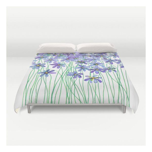 Purple Daisies In Watercolor & Colored Pencil Duvet Cover ($129) ❤ liked on Polyvore featuring home, bed & bath, bedding, duvet covers, king duvet insert, purple queen bedding, king size duvet insert, king bedding and queen bedding