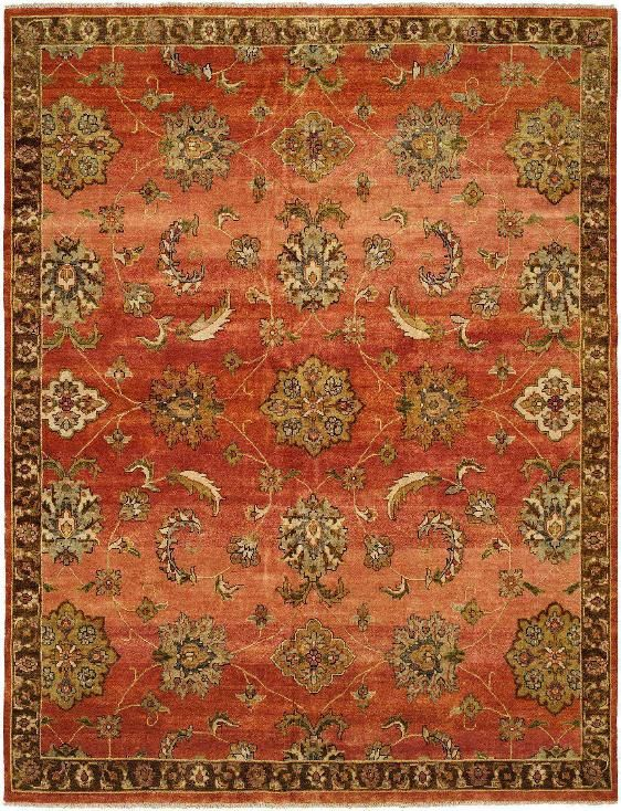 Rug # VH BAR4 8x10 Indian Hand Knotted Red Oriental Rug. Www.
