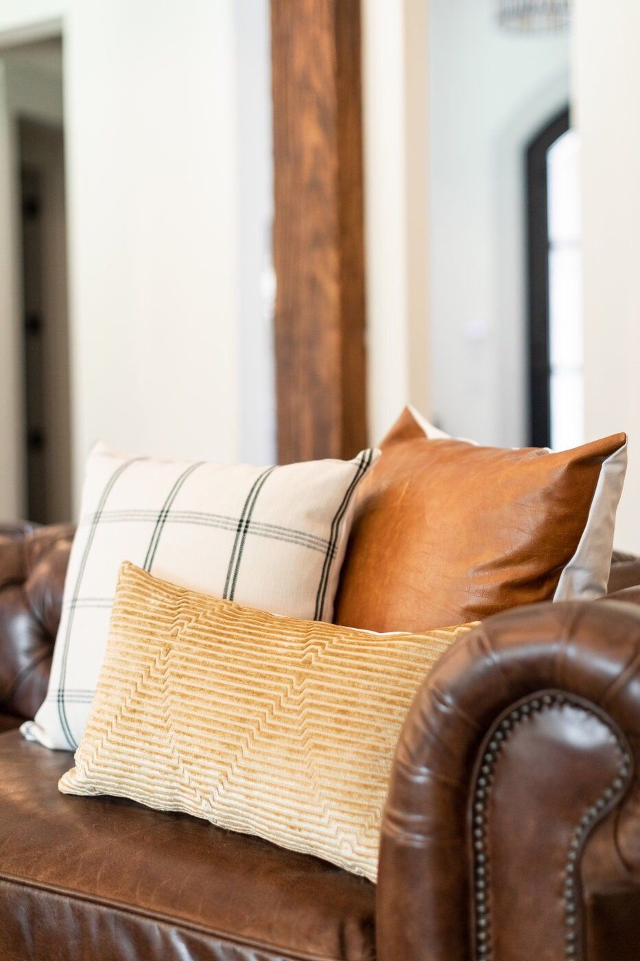 Cognac Leather Pillow Cover In 2021 Leather Pillow Brown Couch Pillows Brown Leather Couch