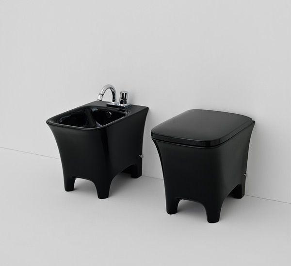 I sanitari bagno di colore nero la nuova tendenza - Bagno di colore prodotti ...