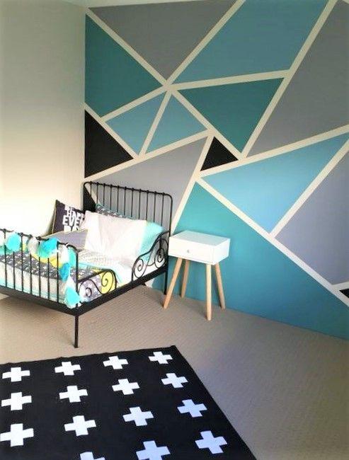 Les Motifs Géométriques Sont Faciles à Réaliser Sur Un Mur Avec Un