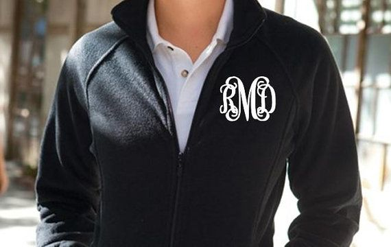 Monogrammed fleece jackets full zip the perfect gift by etc622