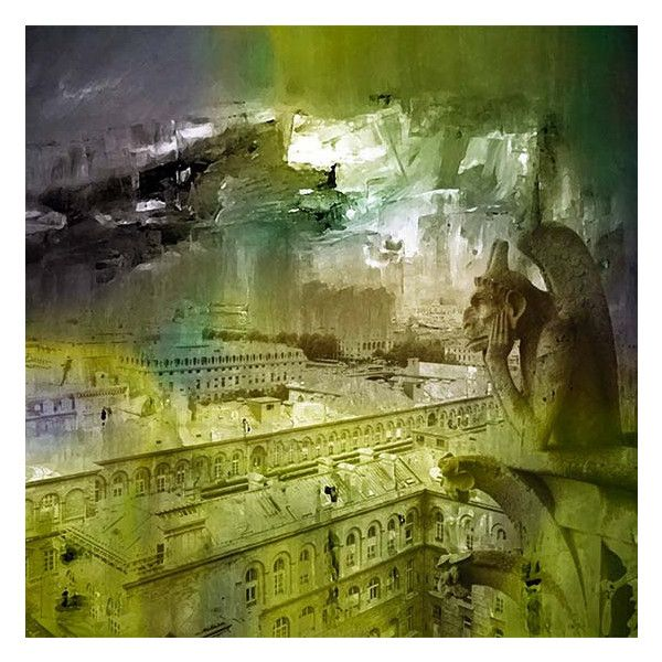 Paris, Cityscape, Moss green, Painted Photography, Photo Fusion ...