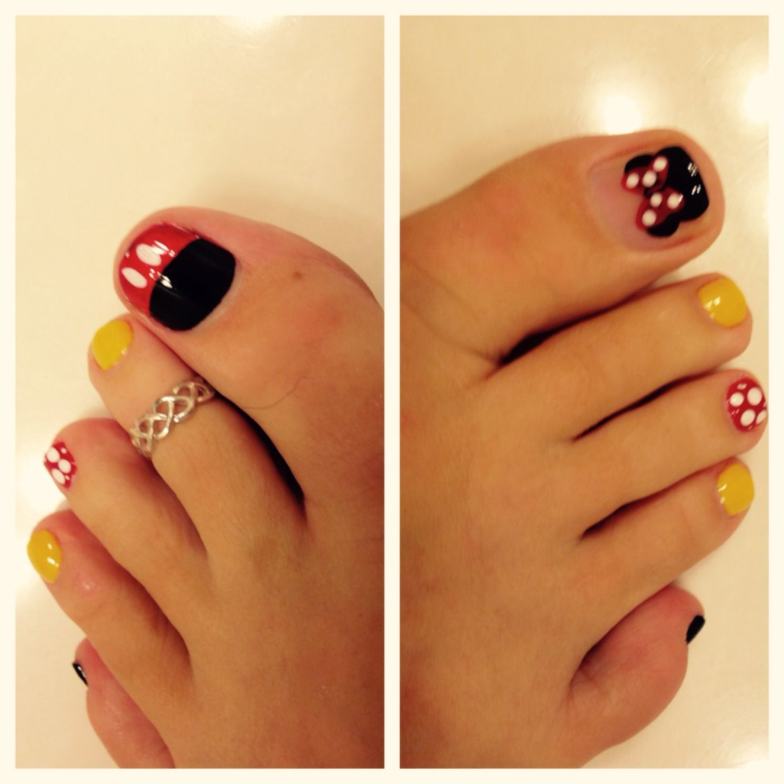 Disney Pedicure - Mickey Mouse Toe Nail Designs Minnie Mouse Toe Nail Designs