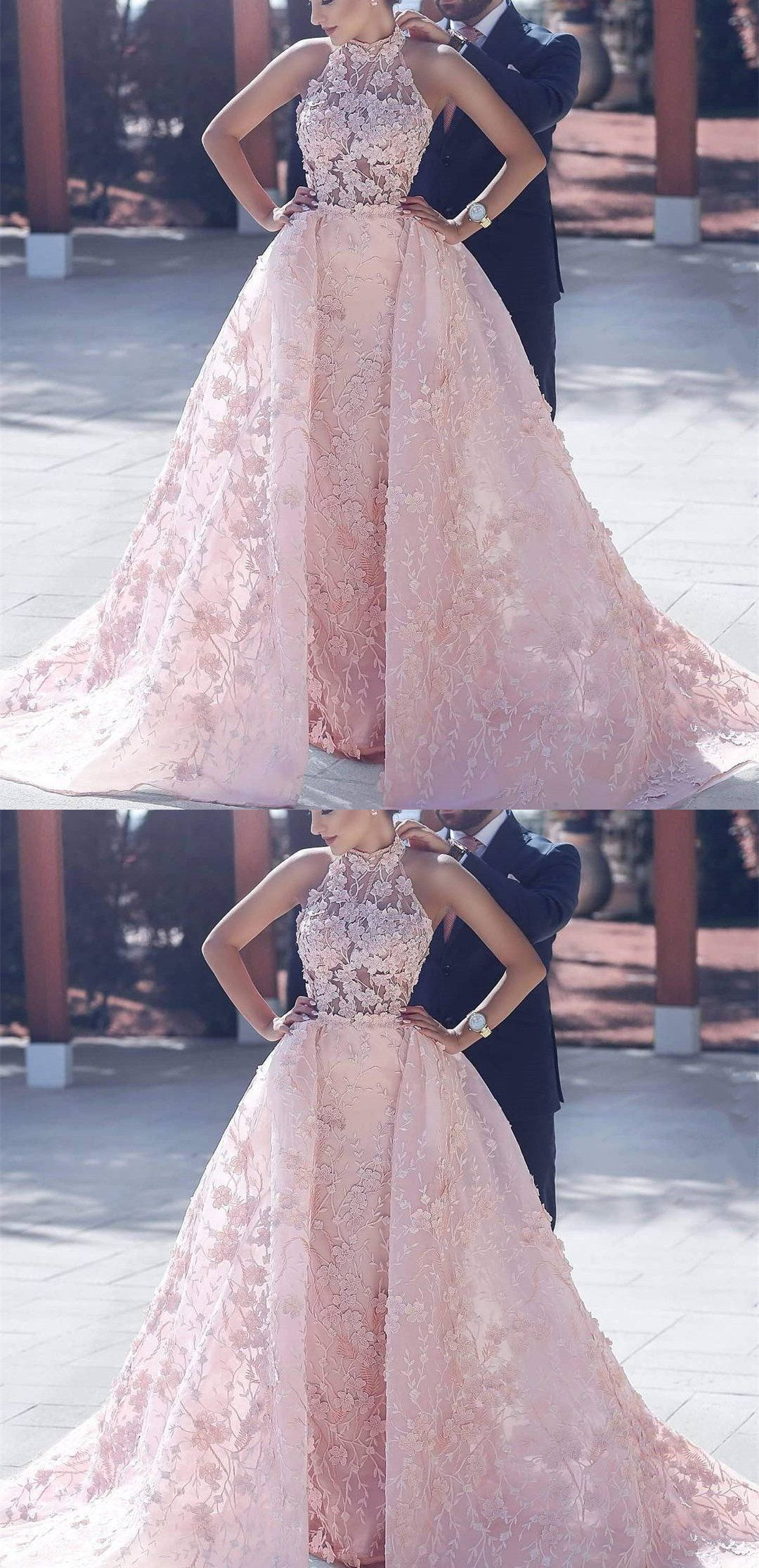 Princess wedding dresses pink prom dresses long prom dresses with