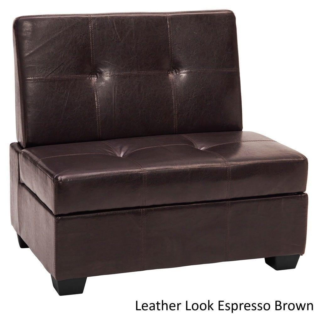EpicFurnishings Vanderbilt Butler Panel Sticthed Tufted Storage Chair Bench