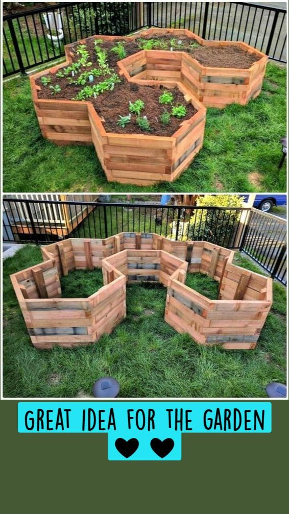 How to make most amazing square DIY vegetable and flower beds with old pallets