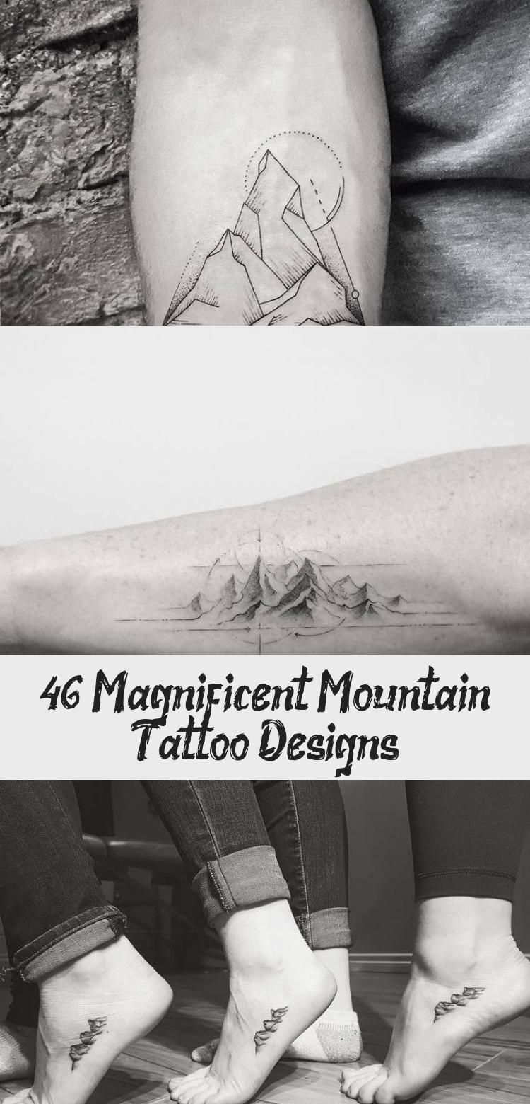 Photo of Mountains and Crescent Moon Tattoo by tattooist_dal #moontattoosDotwork #moontat…