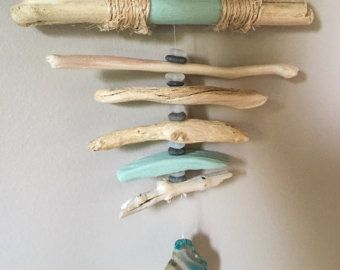 Driftwood sun catcher / mobile with agates and by WoodintheWind