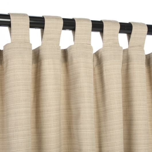 Brown Curtain Panels With Tabs
