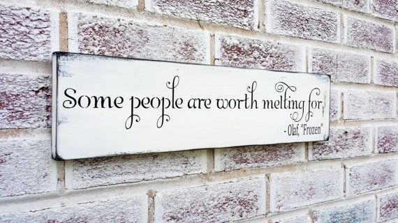 Frozen Movie Quote Sign Christmas Wedding Decoration Holidays Signs Olaf