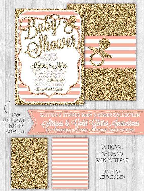 Girl baby shower invitation blush pink gold glitter by girl baby shower invitation blush pink gold glitter by labellestudio 1000 how do filmwisefo