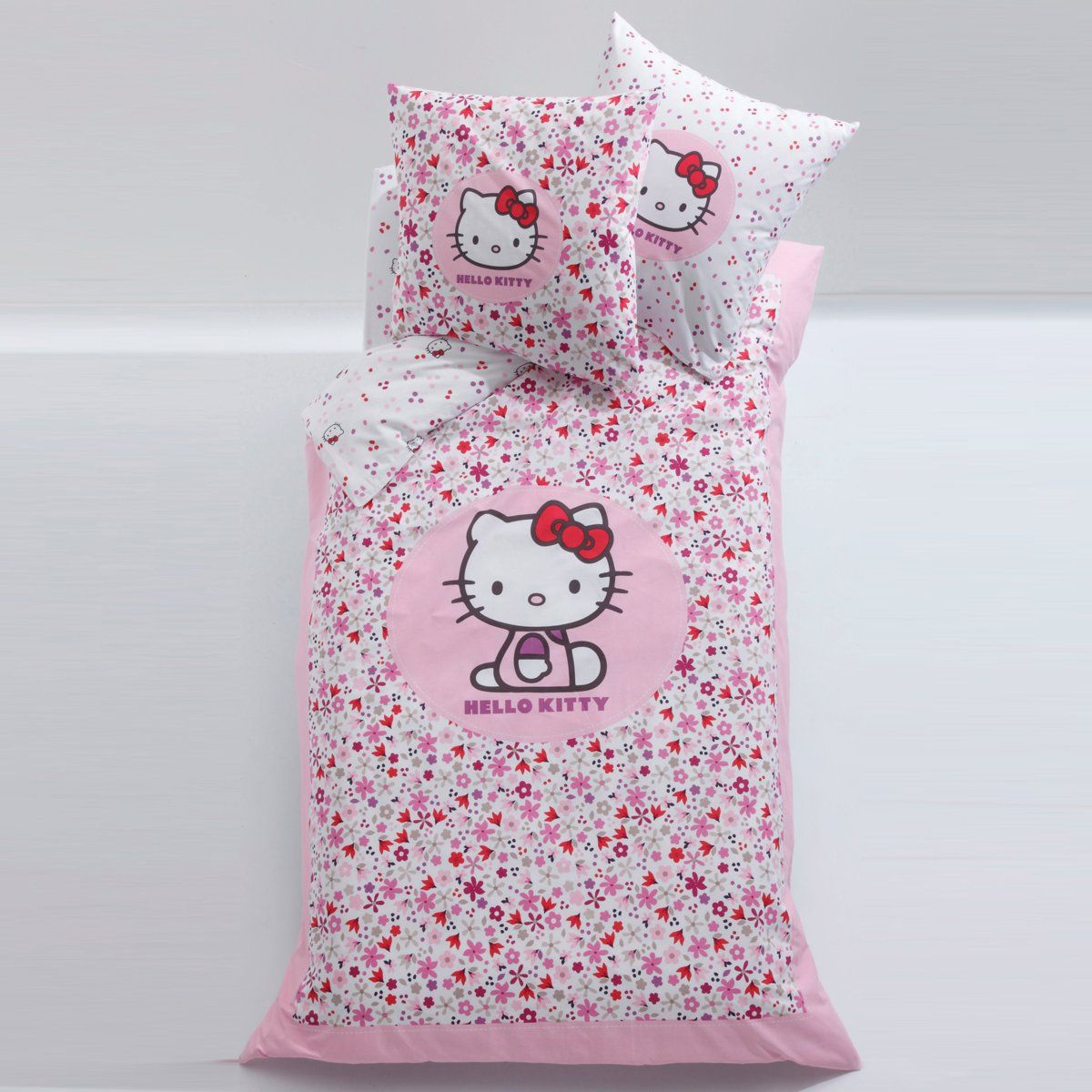 Housse de couette + taie Hello Kitty | La Redoute