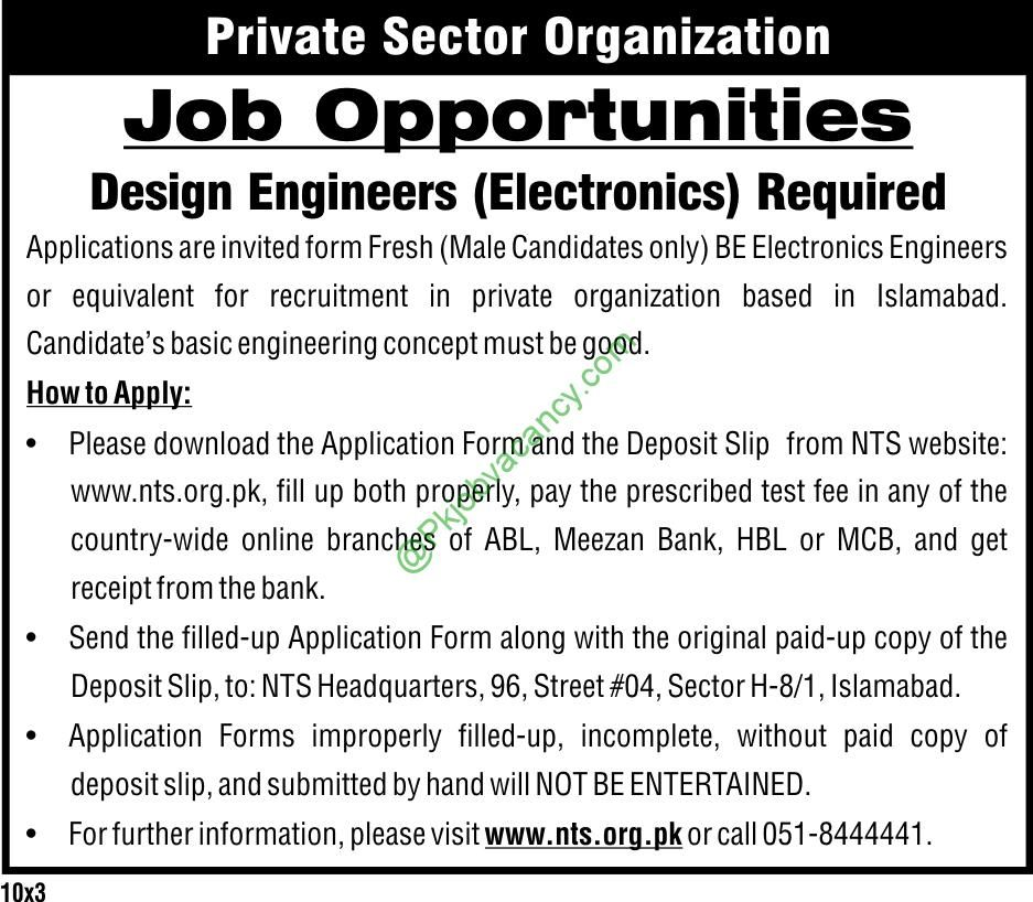 Private Sector Organization Nts Jobs  Available For Design