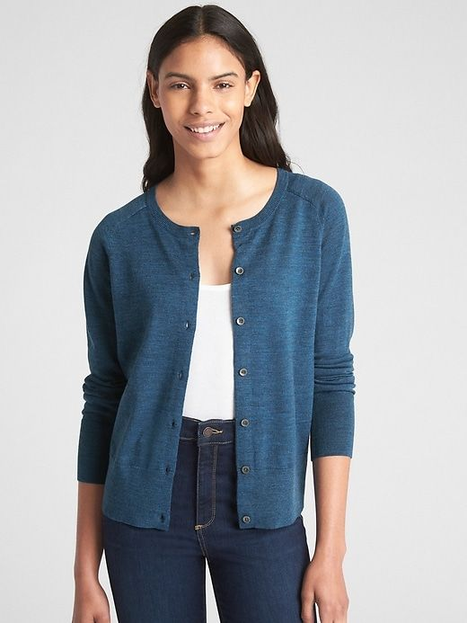 44ceae830 Gap Women s Cardigan Sweater In Merino Wool Teal in 2019