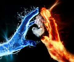 Download Water And Fire wallpapers to your cell phone - fire smoke water - 18911826 | Zedge