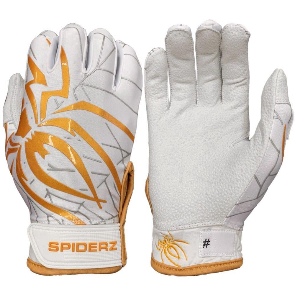 Black Widow Spiderz Hybrid Tac Palm Baseball//Softball Batting Gloves XL