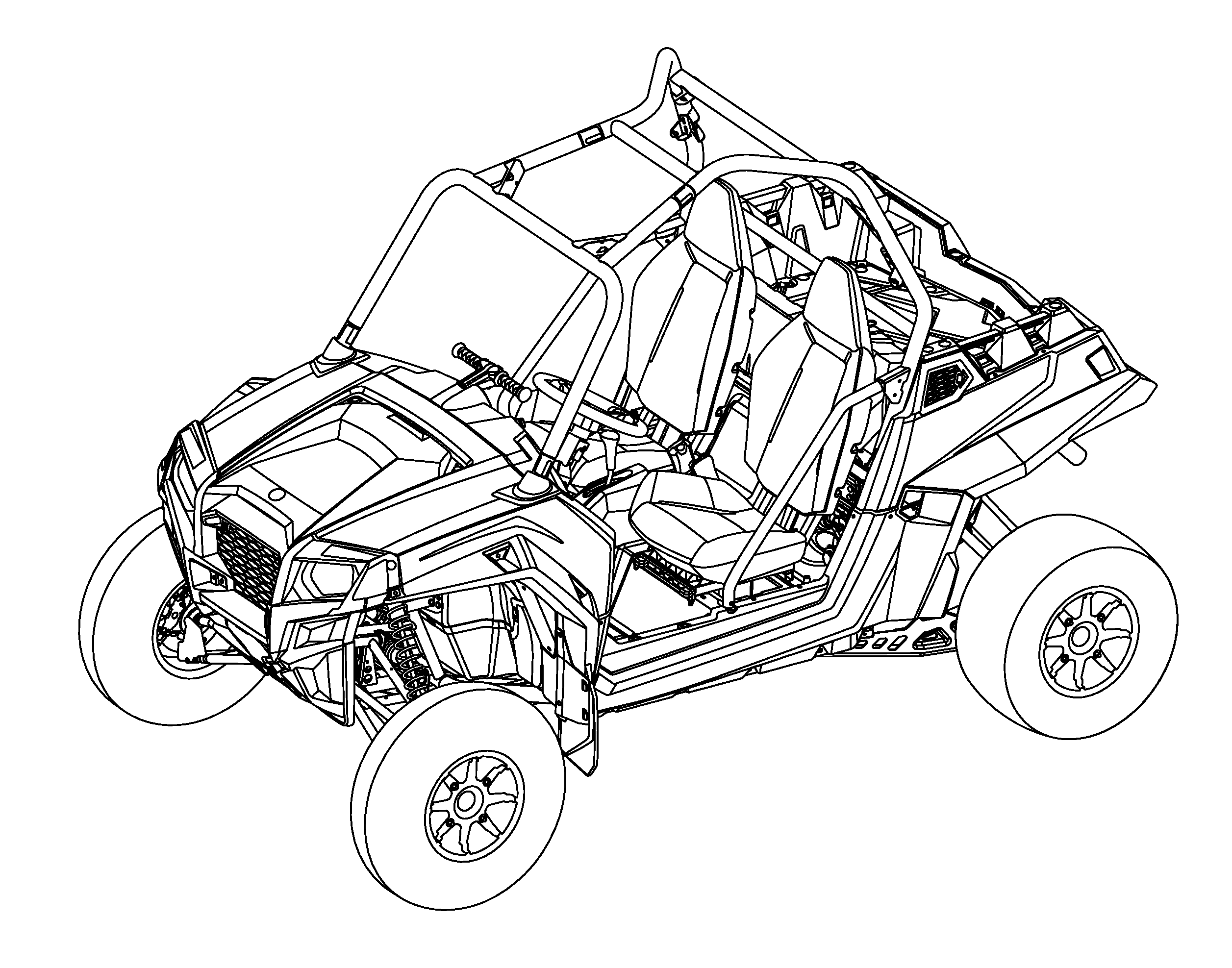 Polaris Rzr Drawing Drawings Coloring Pages Drawing Sketches