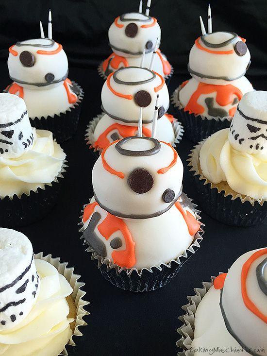 Star Wars BB8 Cupcakes Recipe Bb Star and Birthdays