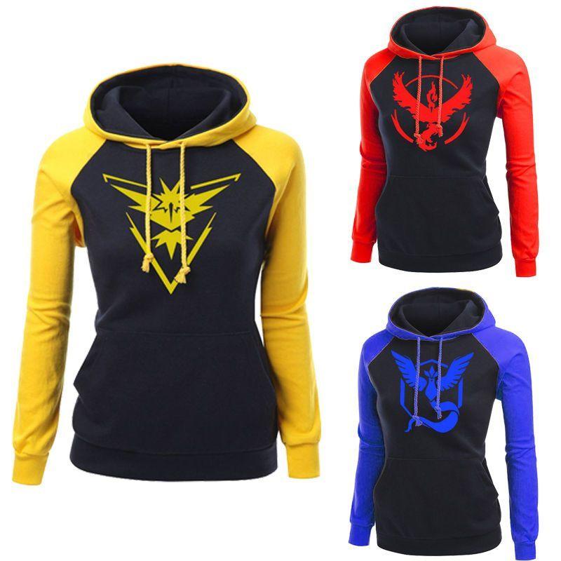 184da241 Pokemon Go Team Valor Team Mystic Team Instinct Pokeball Women Hoodies  Sweaters #Unbrand #Hoodie