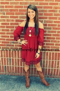 Lace dresses to wear with western boots