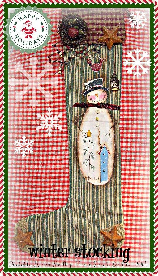 Painting With Friends E Pattern  Winter by appletreecottage, $5.00