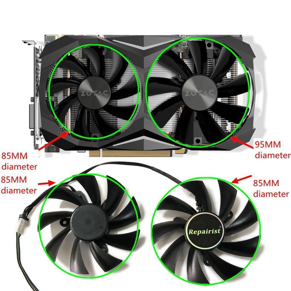 GTX1080 VGA GPU Cooler 4Pin 85mm Alternative Graphics card