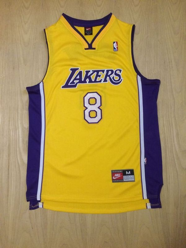 1ef1af6af274 Kobe Bryant Minneapolis Lakers  8 Modern Home Yellow Jersey ...