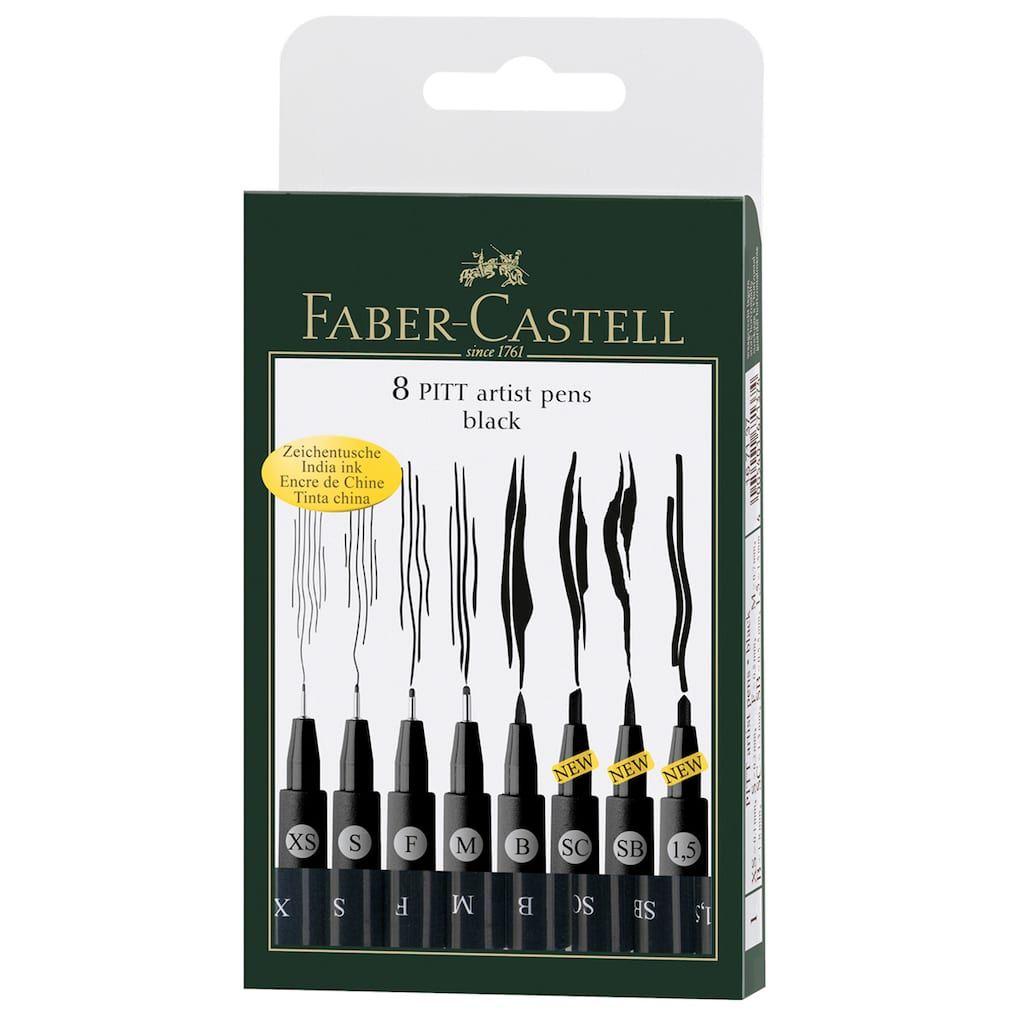 Faber Castell Pitt 8 Artist Pens Black Artist Pens Pitt