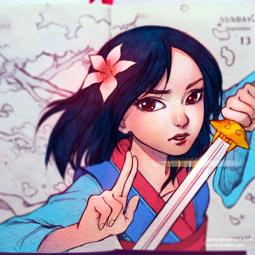 Hua Mulan Disney Fan Art Disney Princess Films Drawings