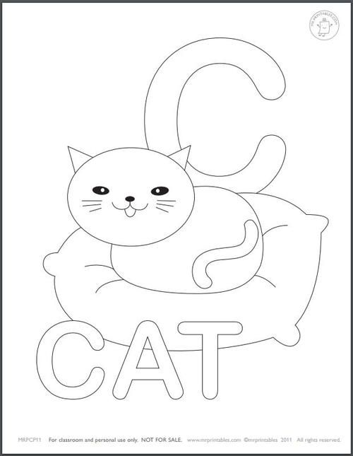 Learn The Alphabet Coloring Pages For Kids Alphabet Coloring