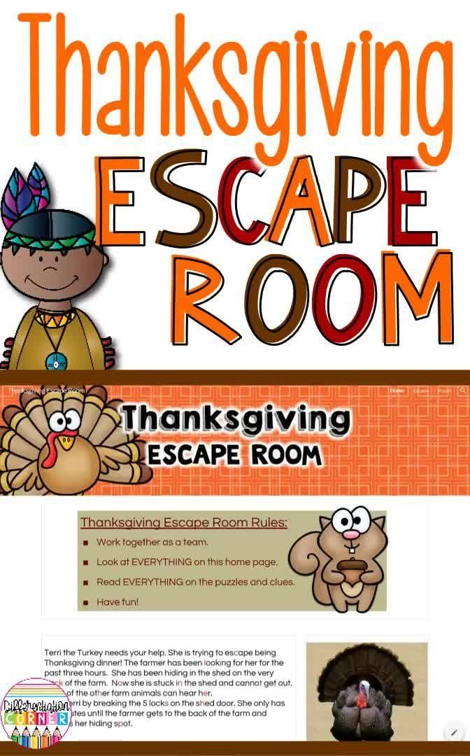 Digital Thanksgiving Escape Room Breakout