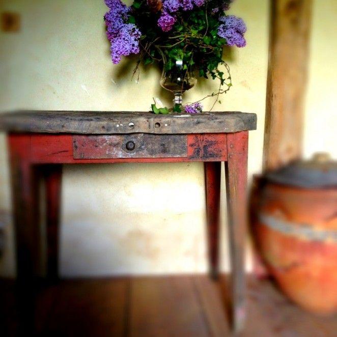 Table rustique à la suédoise | Franck Delmarcelle décorateur d'intérieur