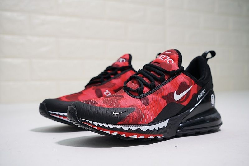 the best attitude d2846 c74db Nike Air Max 270 Red Black Shark AH6799 016 2018 Spring Summer Sportswear  Running Shoes Sneakers