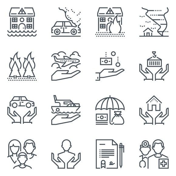 Insurance Icon Set Travel Infographics 8 00 Icon Set Icon