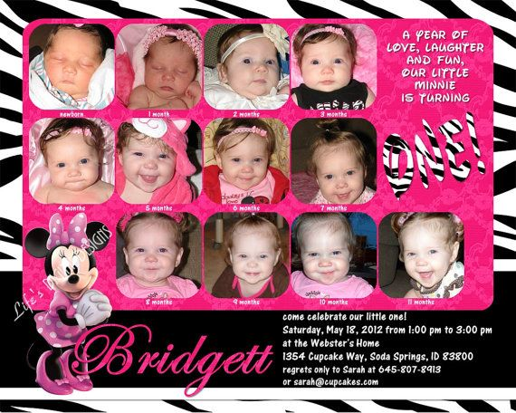 Minnie mouse first birthday invitations 12 photos hot pink zebra minnie mouse first birthday invitations 12 photos hot pink zebra customizable printable 6x75 costco size m4hsunfo Choice Image