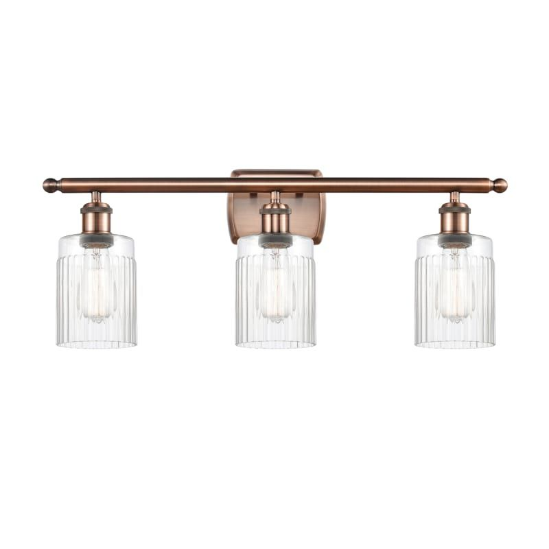 "Photo of Innovations lighting 516-3W Hadley Hadley 3 Light 26 ""wide bathroom basin lamp Antique copper / clear interior lighting Bathroom lamps Basin lamp"