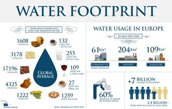 Infographic Water Footprint Water Footprint Water Scarcity