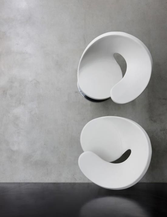 Sculptural Chairs From Top View
