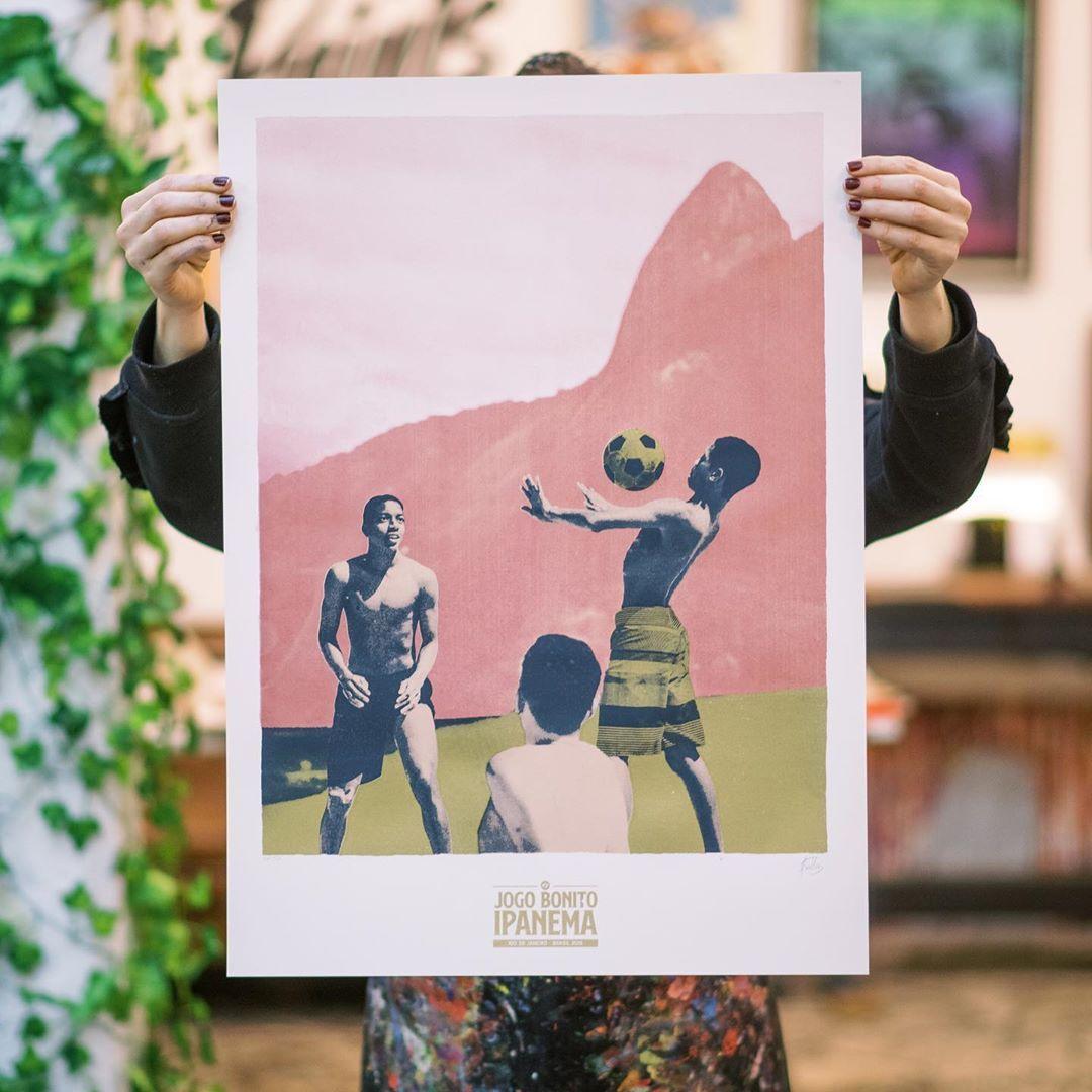 Chino Martinez On Instagram Jogo Bonito Ipanema Serigrafia A 4 Tintas 50x70 Cm Proyecto Realizado Junto A House Of Prin Photography Polaroid Film Film