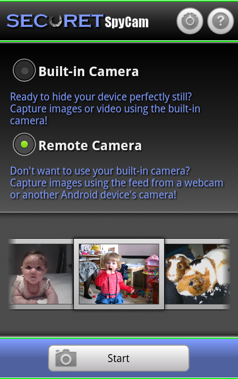 Amazon com: SECuRET SpyCam: Appstore for Android   Kindle