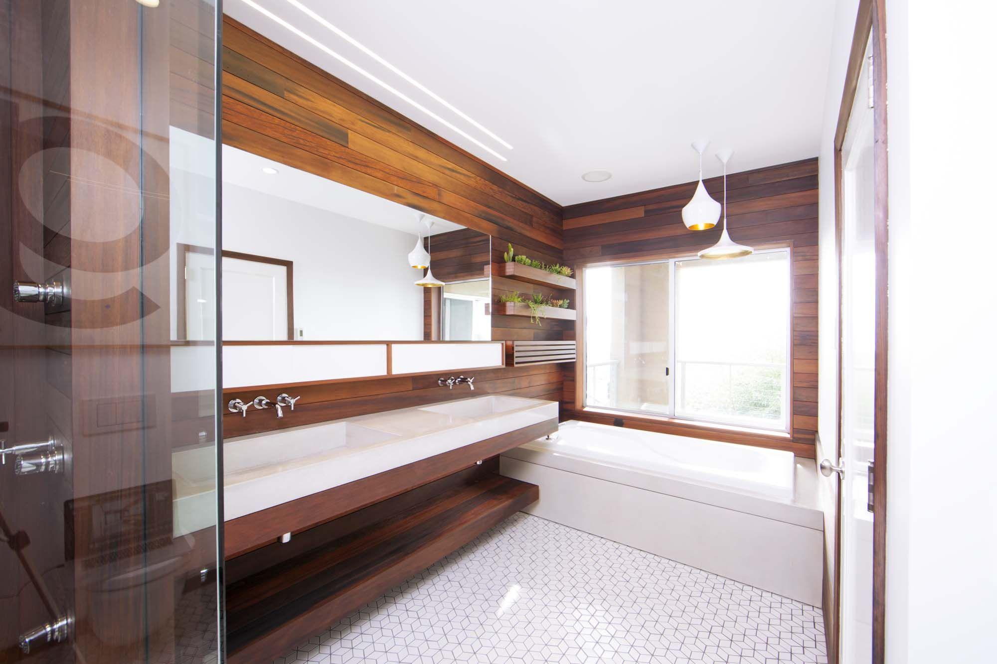 Modern Woodlined Bathroom Renovation With White Tile  Design Pleasing San Francisco Bathroom Remodel Decorating Inspiration