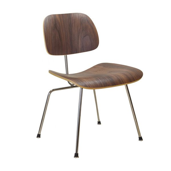 eames style molded plywood dining chair liked on polyvore