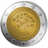 2 euro 200th anniversary of the Botanical Garden in Ljubljana  - 2010 - Series: Commemorative 2 euro coins - Slovenia