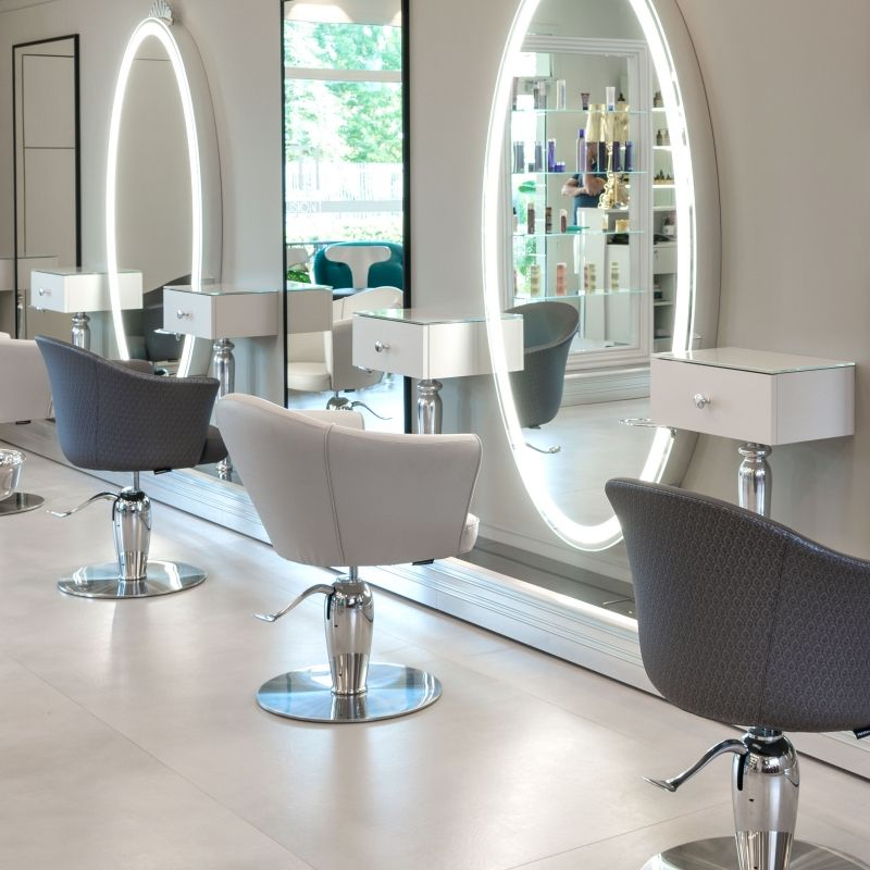 Grimhilde Wall Styling Units For Hairdresser Maletti In 2020 Salon Interior Design Beauty Room Decor Salon Suites Decor