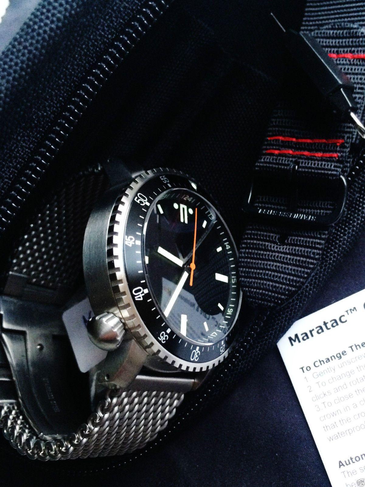 Maratac Dive Military Automatic Brand New Wristwatch Mens RARE ... cf77f89148e