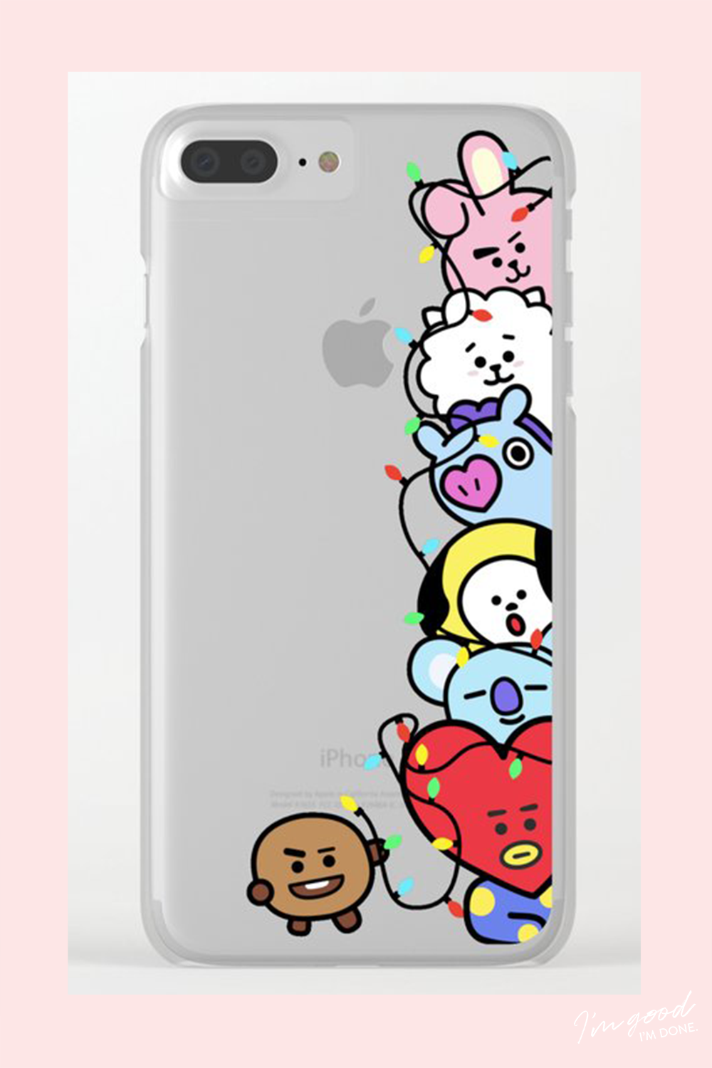 release date: fdd71 483a7 BT21 Christmas CLEAR phone case BTS Bangtan Cooky RJ Mang Chimmy ...