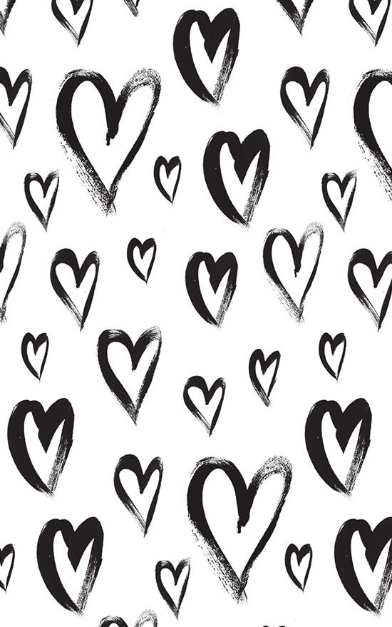 B&W Hearts ★ Find more Funky Patterns for your #iPhone + #Android @prettywallpaper