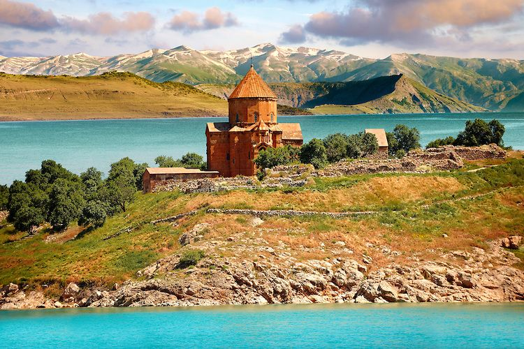 a0605d1b37 10th century Armenian Orthodox Cathedral of the Holy Cross on Akdamar Island